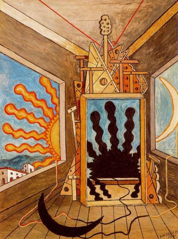 Джорджо де Кирико. Метафизический интерьер с умирающим солнцем